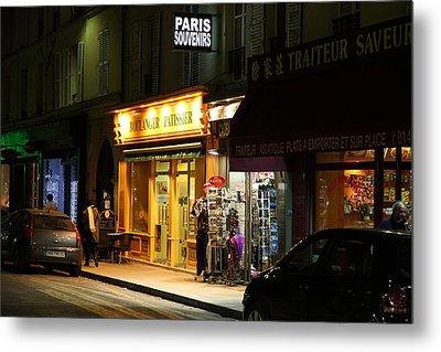 Street Scenes - Paris France - 011322 Metal Print by DC Photographer