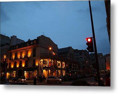 Street Scenes - Paris France - 011334 Metal Print