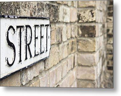 Street Sign Metal Print by Tom Gowanlock