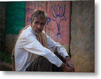 Street Vendor - India Metal Print