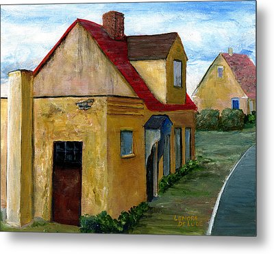 Metal Print featuring the painting Street View In Zealand by Lenora  De Lude