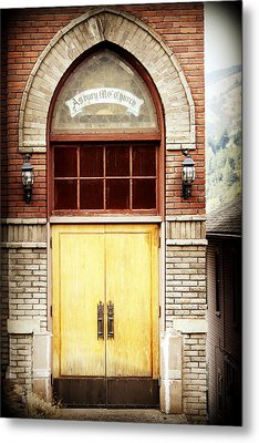 Street View Metal Print by Melanie Lankford Photography