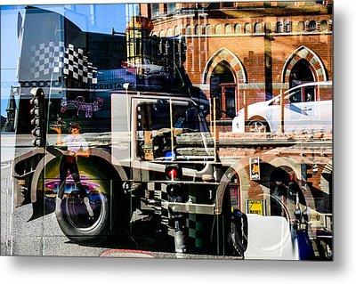 Streetcars And Trucks Metal Print
