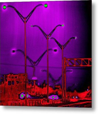 Streetlight Serenade 6 Metal Print by Wendy J St Christopher