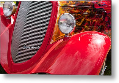 Metal Print featuring the photograph Streetrod Red by Mick Flynn