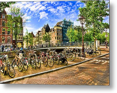 Metal Print featuring the photograph Streets Of Amsterdam by Brent Durken