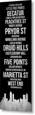 Streets Of Atlanta 2 Metal Print