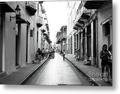 Streets Of Cartagena I Metal Print by John Rizzuto