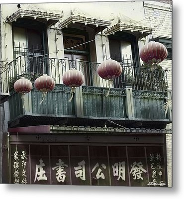 Streets Of Chinatown Metal Print by Larry Butterworth