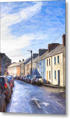 Streets Of Galway On A Winter Morn Metal Print by Mark E Tisdale