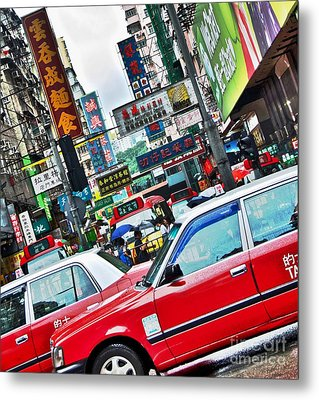 Streets Of Hong Kong Metal Print by Sarah Mullin