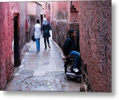 Streets Of Marrakesh Metal Print by Daniel Kocian
