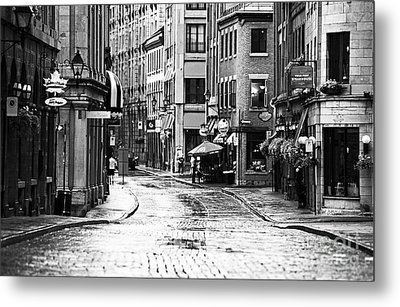 Streets Of Montreal Metal Print by John Rizzuto
