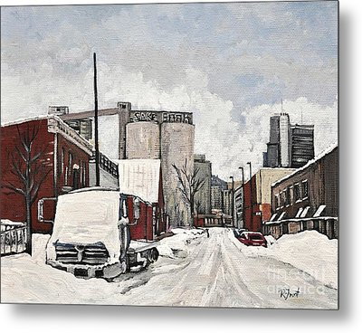 Streets Of Montreal Pointe St. Charles Metal Print by Reb Frost