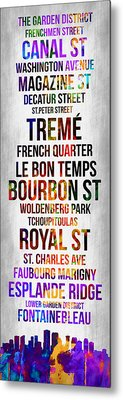 Streets Of New Orleans 1 Metal Print by Naxart Studio