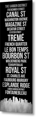 Streets Of New Orleans 2 Metal Print by Naxart Studio