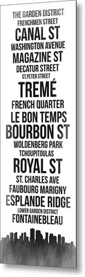 Streets Of New Orleans 3 Metal Print by Naxart Studio