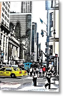Streets Of Nyc 14 Metal Print by Mario Perez