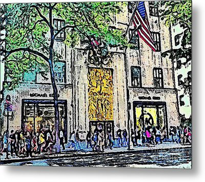 Streets Of Nyc 7 Metal Print by Mario Perez