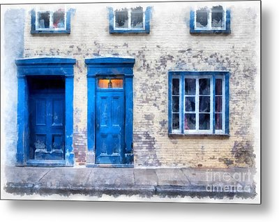Streets Of Old Quebec 2 Metal Print by Edward Fielding