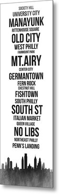 Streets Of Philadelphia 3 Metal Print by Naxart Studio