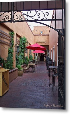 Metal Print featuring the photograph Streets Of Santa Fe by Sylvia Thornton
