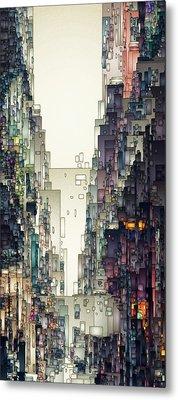 Streetscape 1 Metal Print by David Hansen