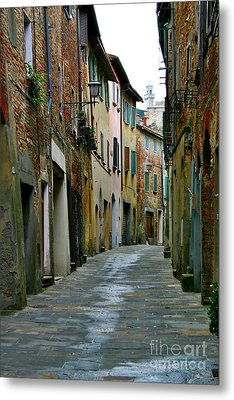 Streetscape Tuscany Metal Print by Henry Kowalski