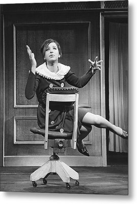 Streisand Broadway Debut Metal Print by Underwood Archives