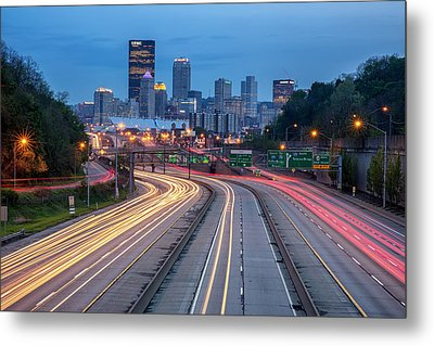 Streaming Into Town Metal Print