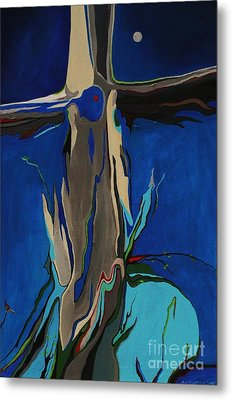 Metal Print featuring the painting Strength by Alison Caltrider