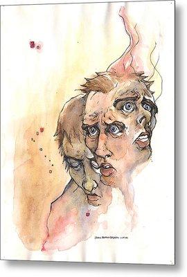 Stress Anxiety Depression Metal Print by John Ashton Golden