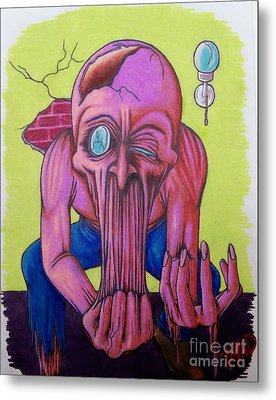 Metal Print featuring the drawing Stretching The Truth by Michael  TMAD Finney
