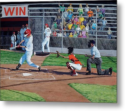 Strike Metal Print by Timithy L Gordon