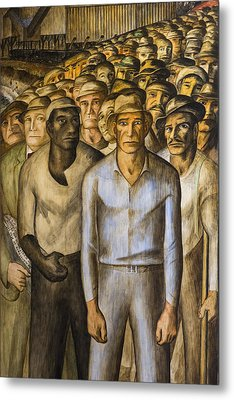 Striking Miners Mural In Coit Tower Metal Print