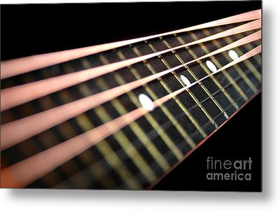 String Abstract Large Metal Print by Dan Holm