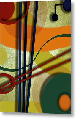 Abstract Strings Metal Print