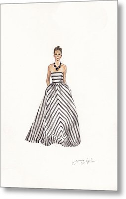 Striped Glamour Metal Print