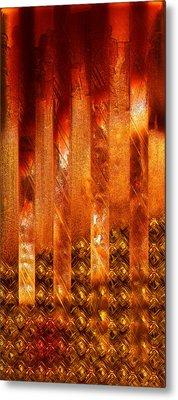 Stripes Forming Metal Print by Li   van Saathoff