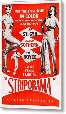 Striporama, Us Poster, From Left Lili Metal Print