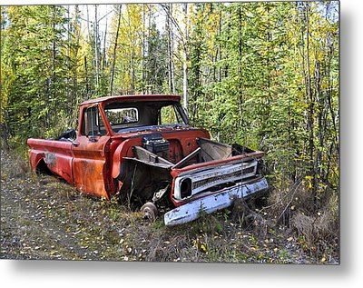Metal Print featuring the photograph Stripped Chevy by Cathy Mahnke
