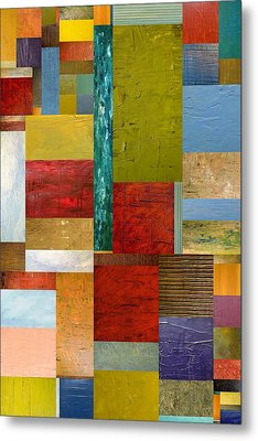 Strips And Pieces Lll Metal Print by Michelle Calkins