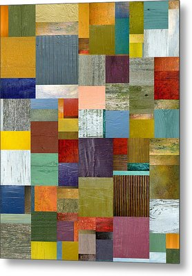 Strips And Pieces Vl Metal Print by Michelle Calkins
