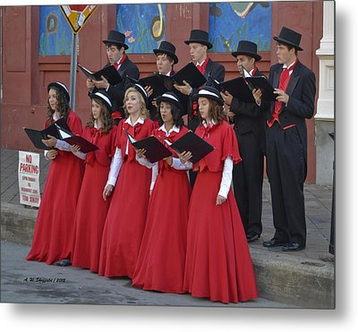 Strolling Choir Metal Print by Allen Sheffield