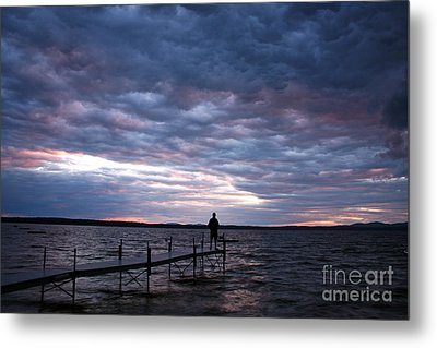 Strom Watch Sebago Lake Metal Print