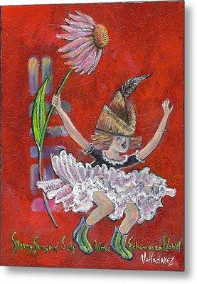 Strong Sense Of Self - Flower Essence Series Metal Print by Maria Valladarez