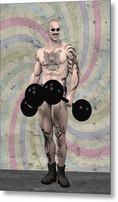 Strongest Man Skinhead  Metal Print by Quim Abella