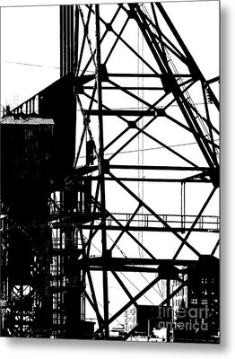 Structure 3 Metal Print by Newel Hunter