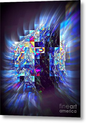 Structured Caous Metal Print