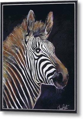 Strutting His Stipes Metal Print